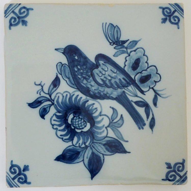 MAKKUM TILE FLOWER WITH BIRD