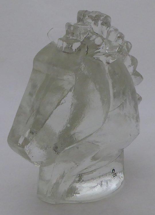 PUKEBERG ART GLASS HORSE HEAD