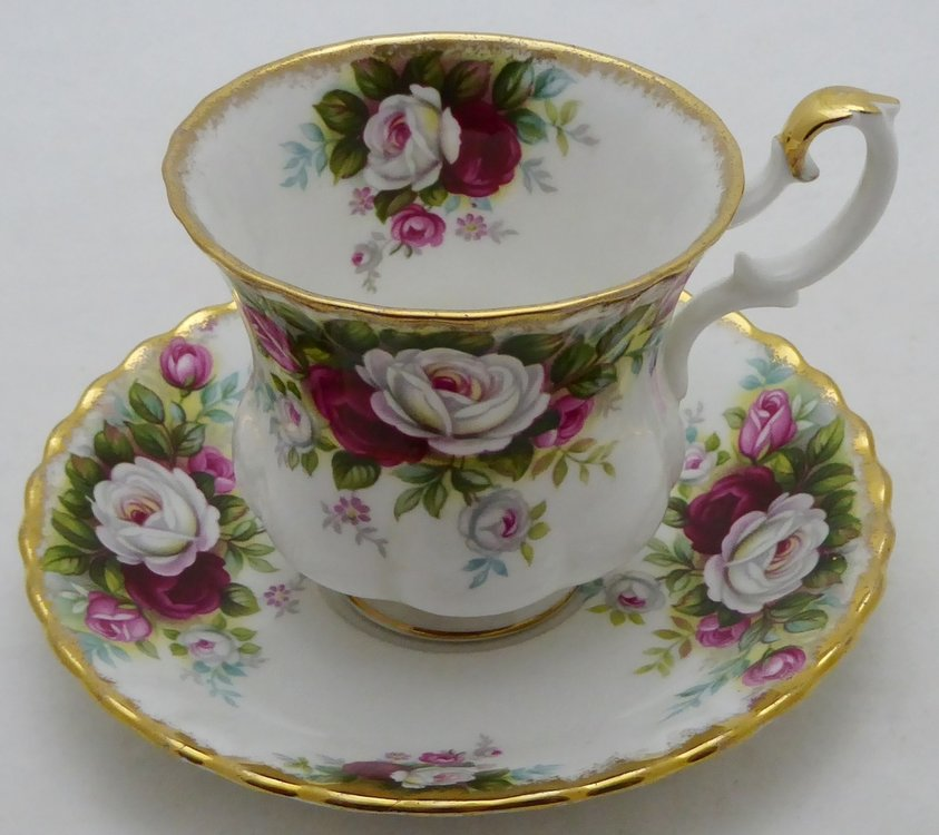 ROYAL ALBERT  CELEBRATION ROSES CUP AND SAUCER