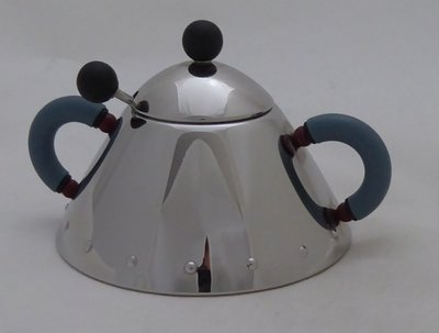 ALESSI SUGAR BOWL WITH SPOON