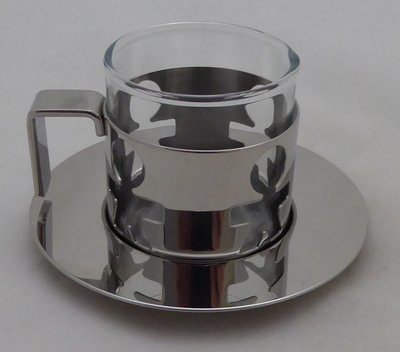 ALESSI TEA HOLDER WITH DISH