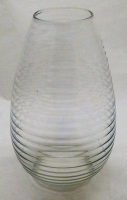 A.D. COPIER LEERDAM RIBBLE VASE CLEAR