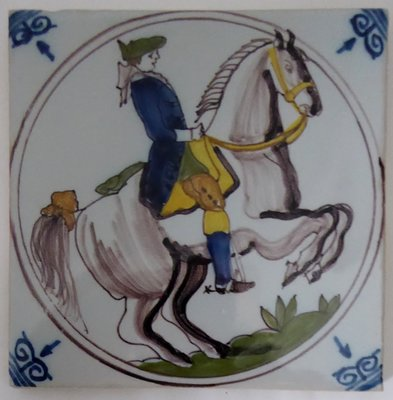 MAKKUM CIRCLE TILE SOLDIER WITH HORSE