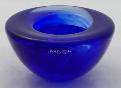KOSTA BODA GLASS ATOLL ANNA EHRNER TEALIGHT