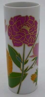 ROSENTHAL VASE WITH FLOWERS