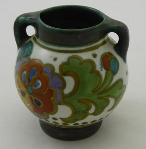 Verbazingwekkend GOUDA PLATEEL VAAS - Dutch Art Pottery FG-16
